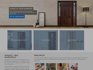 blue hut doors