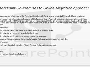 SharePoint On-Premises to Online Migration approach