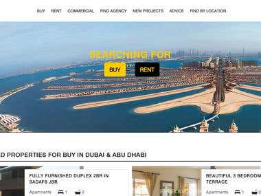 We designed the website for Dubai based Real Estate Portal