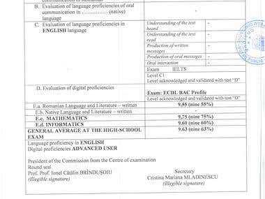 Baccalaureate Diploma