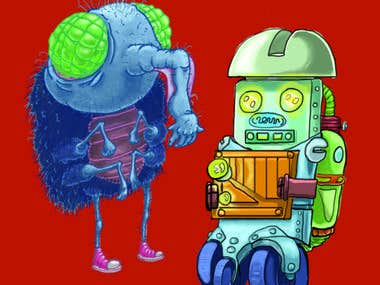 """Elephant Fly and Robo-kid"""