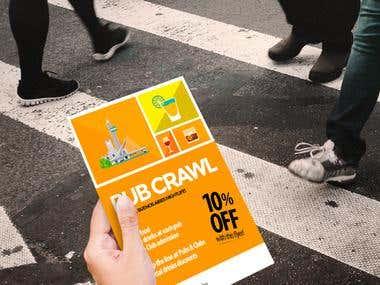 Flyer para Outinba Pub Crawl