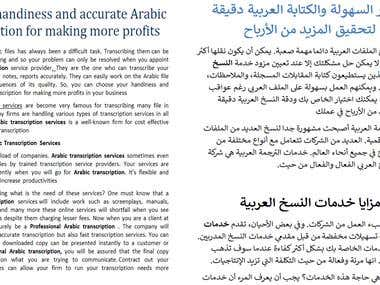 English/Arabic Translation