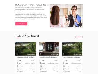 Website Redesign (http://www.ledigbostad.com )