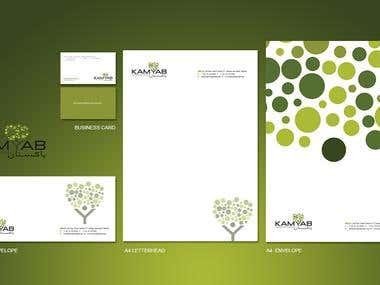 Logo + Brochure + Envelope + Business card