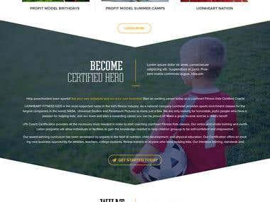 Landing Page Mockup Design Using Photoshop