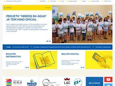 Website - EMAS - Beja (Municipality Water Company)