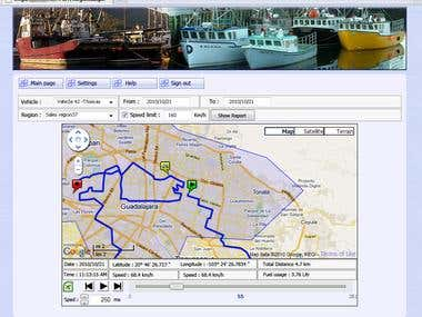Online Tracking / Positioning system