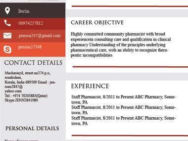 make pharmacist and nurse resume