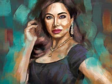 Digital portrait for Lojain Omran