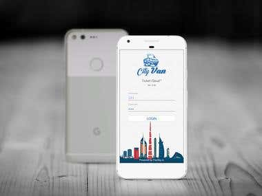 Mobile app for issuing tickets