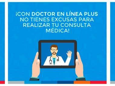 Campaña digital para el servicio de Doctor en Línea PLUS