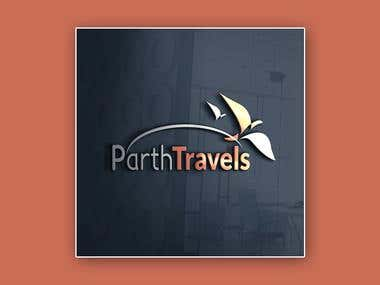 Parth Travels Creative Logo Design
