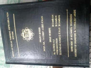 THESIS ON DESIGN OF SOLAR THERMAL REFRIGERATION SYSTEM