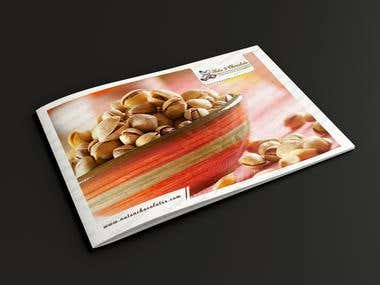 Brochure for nuts and chocolates website
