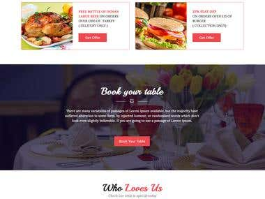 Restaurant Wordpress Website Mockup Design in Photoshop
