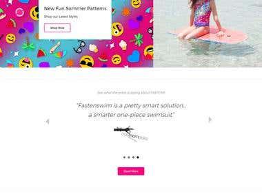 Fasten Swim Shopify store
