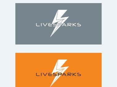 Live sparks logo design