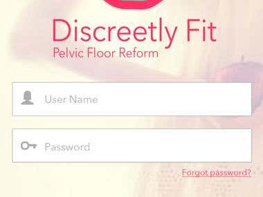 Discreetly Fit Mobile App