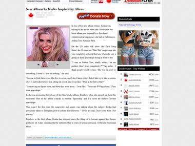 Entertainment News Article