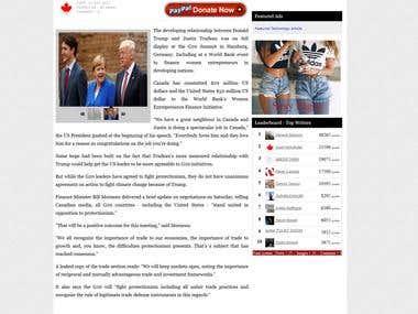 Politics News Article