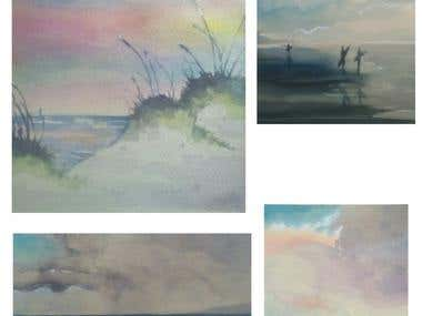 watercolor lanscapes
