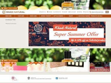 E-commerce website built in Magento