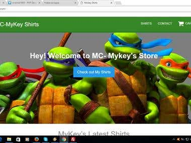 Internet shop on Laravel