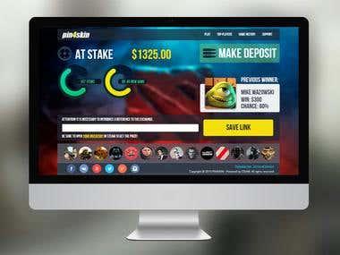 Design and web development of CS:GO gambling website