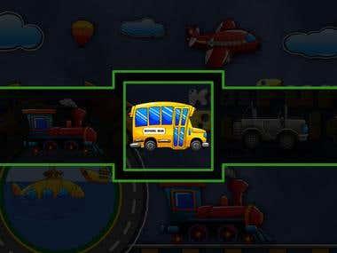 "App Developed ""Kids Transport Puzzle"""