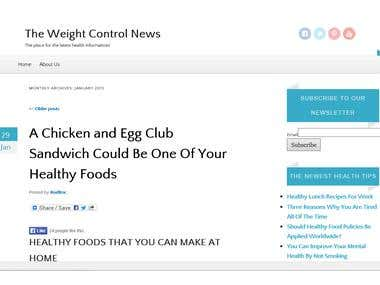 Webmaster at The Weight Control News Blog