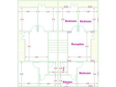 AutoCad drafted plans