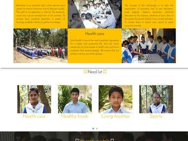 An orphanage Organization Website