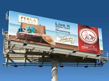 Design Billboard and Mockup for preview