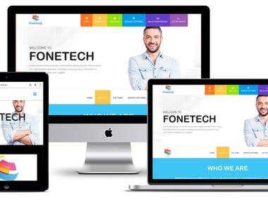 """Website for BPO Telemarketing """"FONETECH PTY LTD"""""""