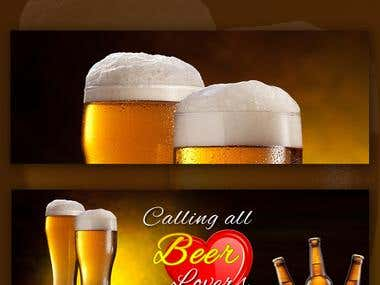 Calling All Beer Lovers Facebook Cover Design