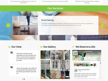Clean Care Solutions Website