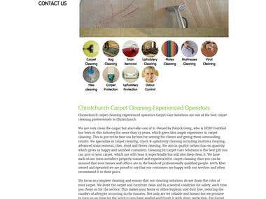 Carpet Care Solutions Website
