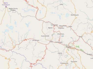 Mapa de ubicación linea de transmisión eléctrica
