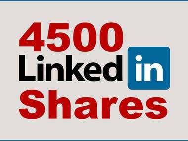 4500 Linkedin Shares - A Sure Shot SEO BOOSTER !