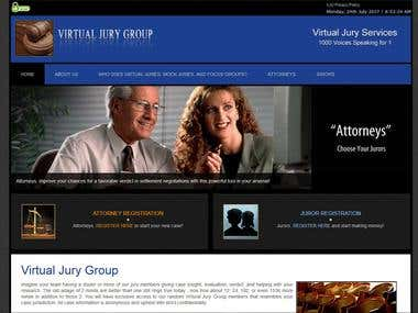 "Website for ""Virtual Jury Group"""