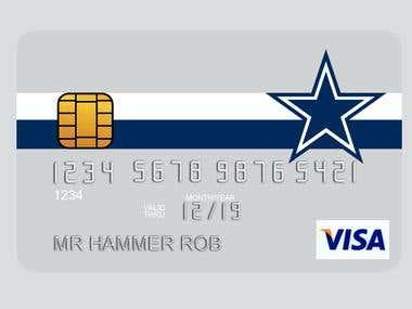 American football team credit card