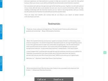 Franchise Innovation Wordpress Websites