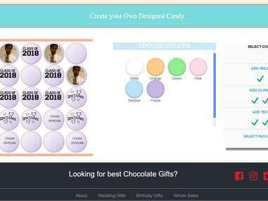 Chocolate Gifts E commerce Website