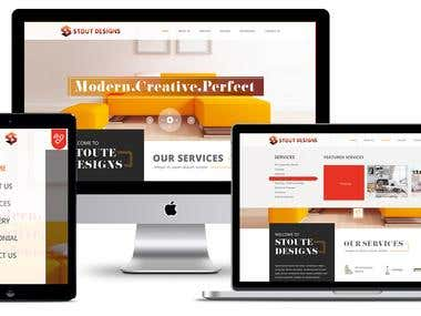Dynamic Website for Interior Designing company STOUT DESIGNS