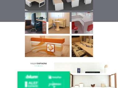 Landing page for furniture company