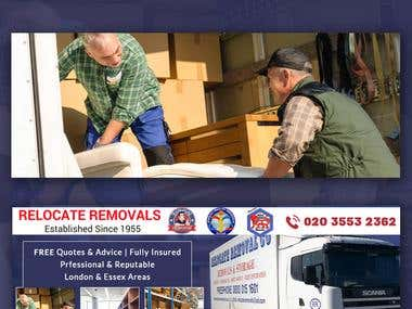 Relocate Removals Facebook Cover Design