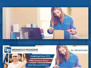 Breamfold Packaging Facebook Cover Design