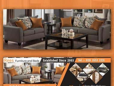 Rees Furniture & Beds Facebook Cover Design