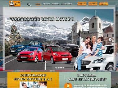 Sitio Web - para empresa de venta de autos usados